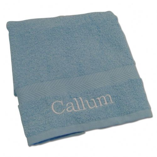 Personalised Baby Blue Hand Towel